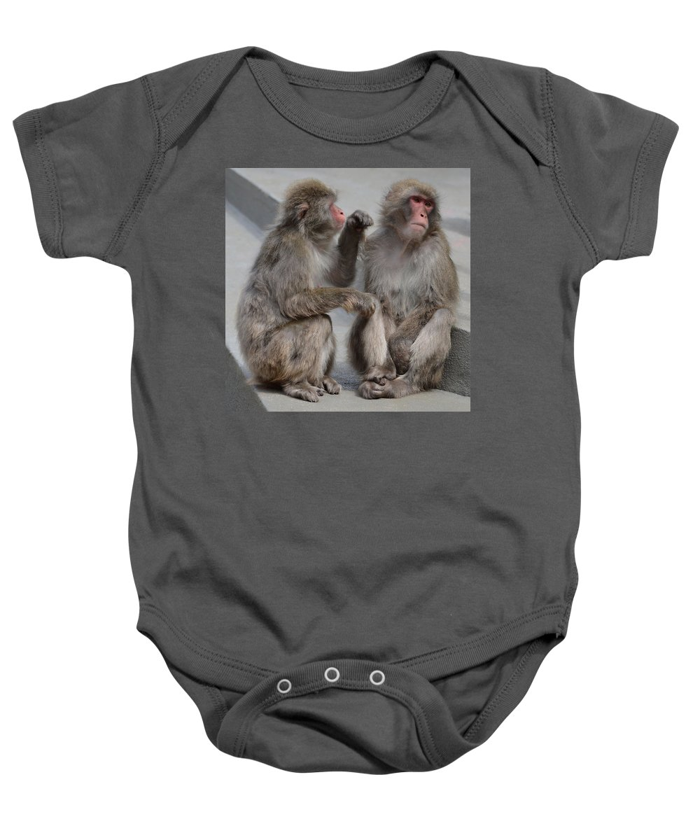 Well Be All Right Baby Onesie featuring the photograph We'll Be All Right by Ellen Henneke