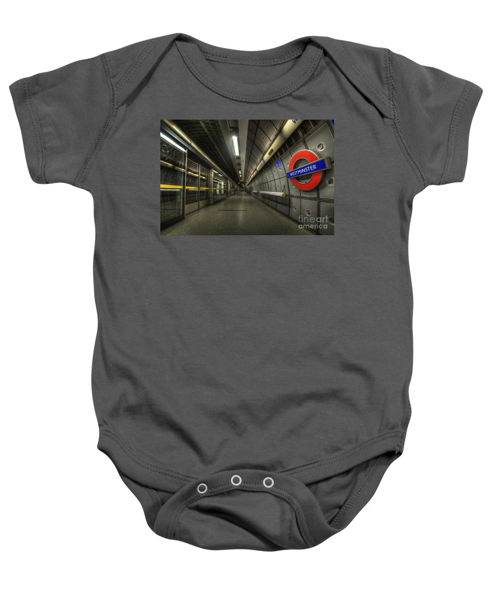Art Baby Onesie featuring the photograph Westminster 2.0 by Yhun Suarez