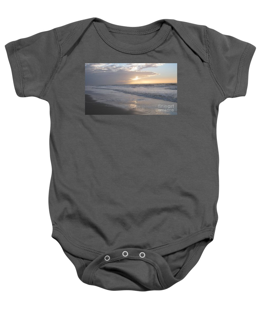 Whale In The Clouds Baby Onesie featuring the photograph Whale In The Clouds by Heidi Sieber