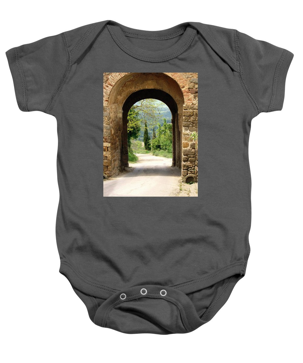 What Lies Ahead Baby Onesie featuring the photograph What Lies Ahead by Ellen Henneke