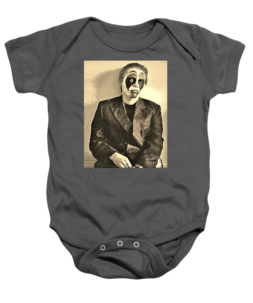 Mime Baby Onesie featuring the digital art Whats The Point In Miming No One Listens by John Malone