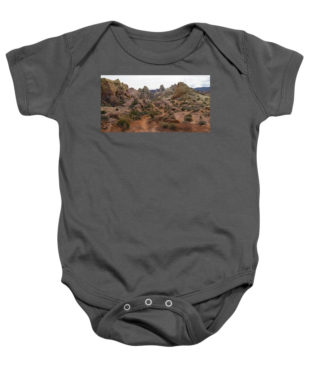 White Domes Trail Baby Onesie featuring the photograph White Domes Trail by Debby Richards