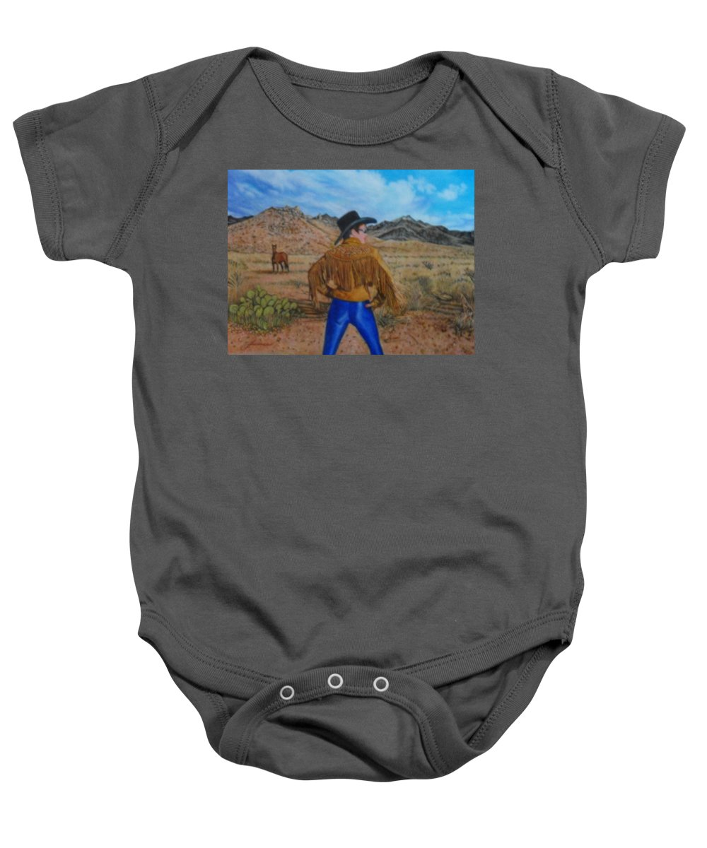 New Baby Onesie featuring the painting Wild Girls Of The West by James Welch