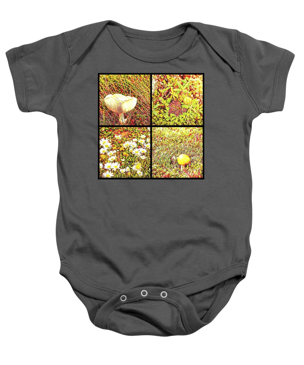 Wild Things Growing Near The Beach Baby Onesie featuring the photograph Wild Things Growing Near The Beach by Barbara Griffin
