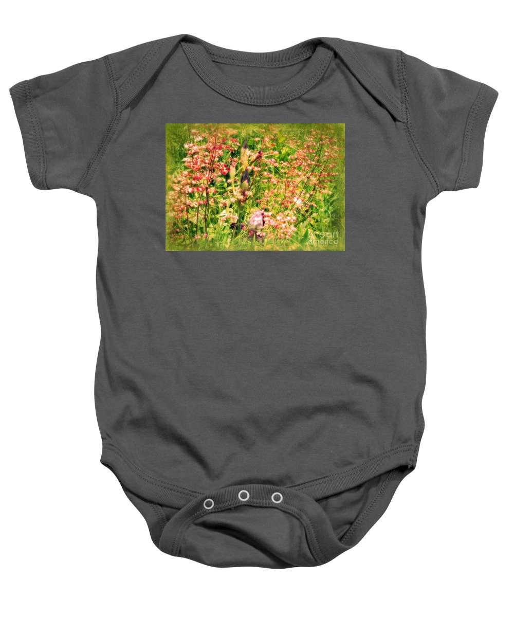 Iris Baby Onesie featuring the photograph Wild Unfettered Beauty by Mother Nature