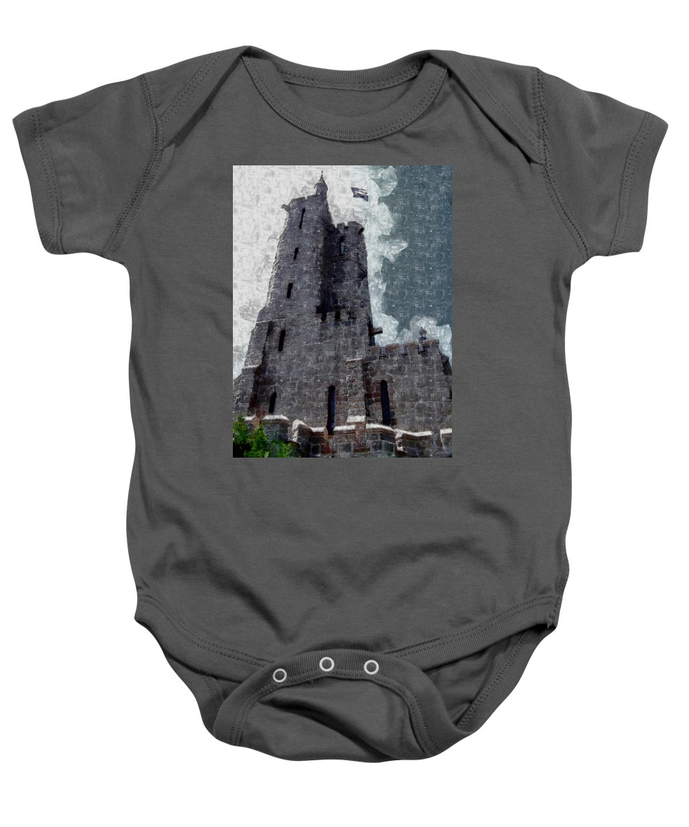Will Rogers Shrine Baby Onesie featuring the digital art Will Rogers Shrine by Ernie Echols