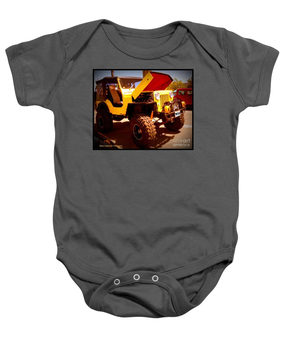 Willys Jeep Baby Onesie featuring the photograph Willys 53 by Bobbee Rickard