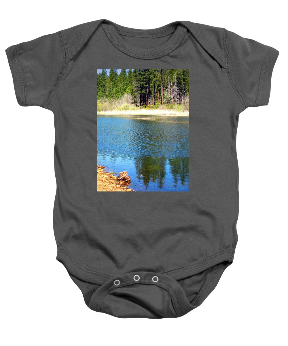 Grace-lake Baby Onesie featuring the photograph Windy Grace Lake by Joyce Dickens