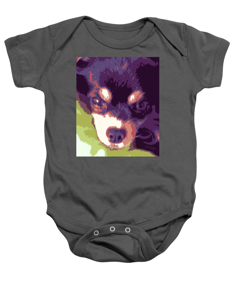 Stylized Baby Onesie featuring the photograph Winsome Wedgie by Del Gaizo