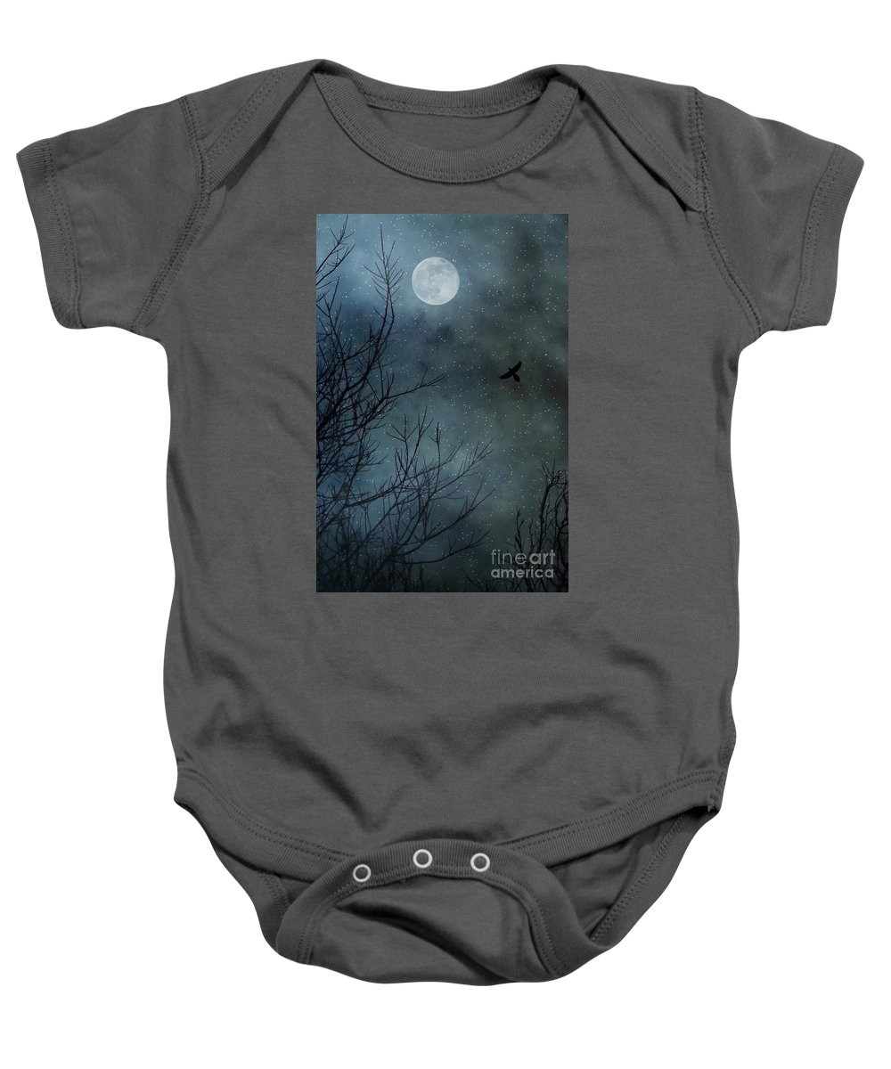 Moon Baby Onesie featuring the photograph Winter's Silence by Trish Mistric