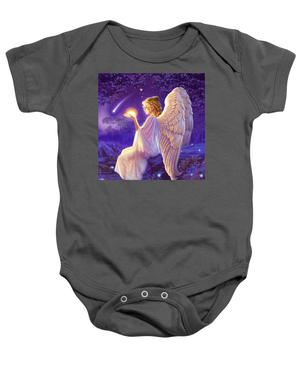 Fantasy Baby Onesie featuring the photograph Wishing Star Variant 2 by Andrew Farley