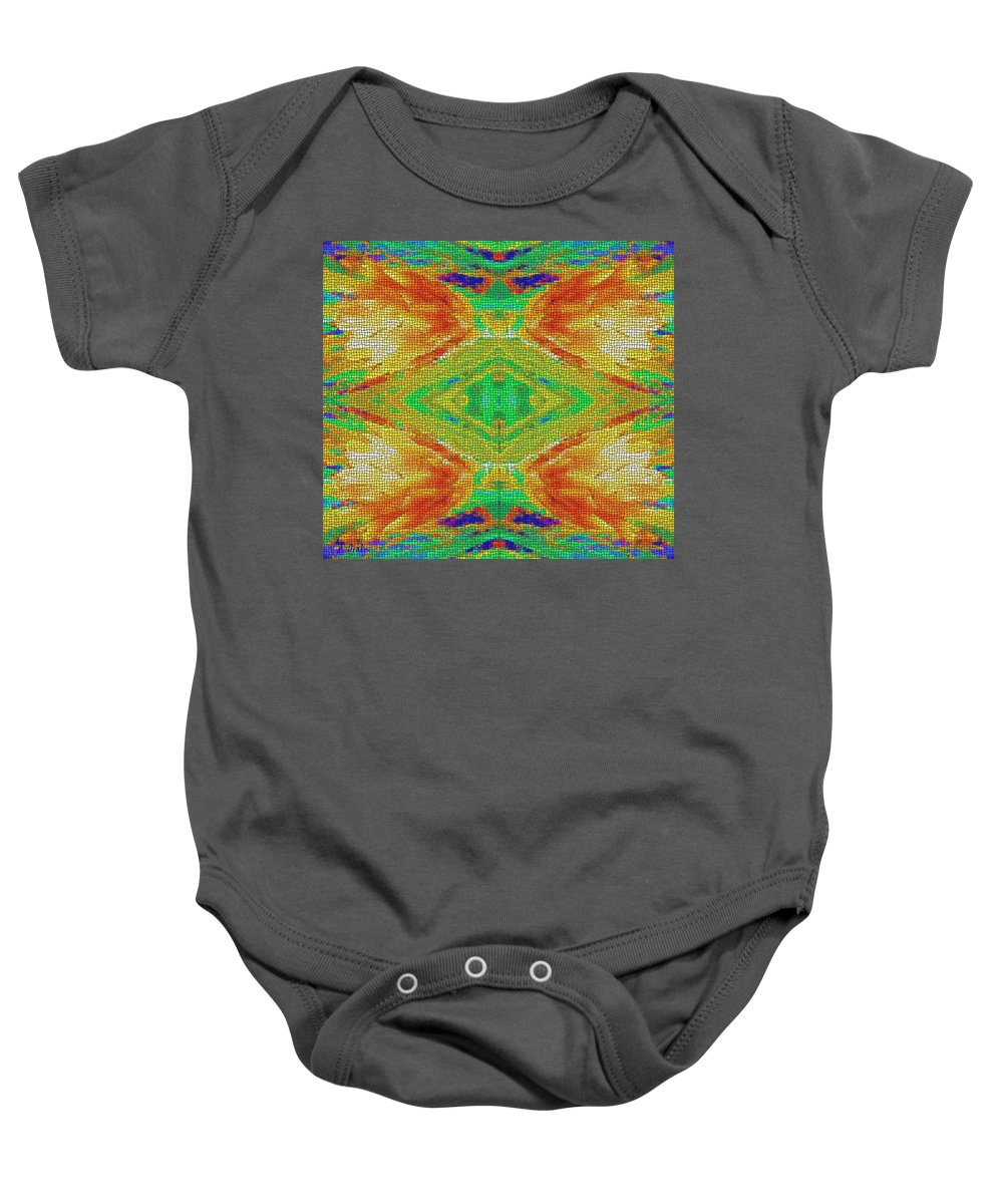 Beatles Baby Onesie featuring the digital art Within You Without You Mosaic by Alec Drake