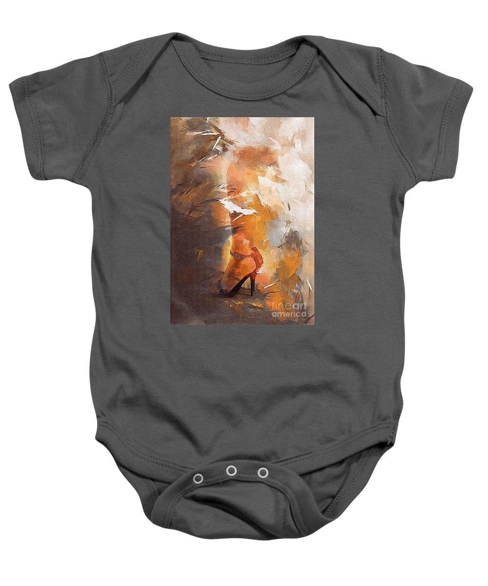 Woman Baby Onesie featuring the digital art Women 398-08-13 Marucii by Marek Lutek