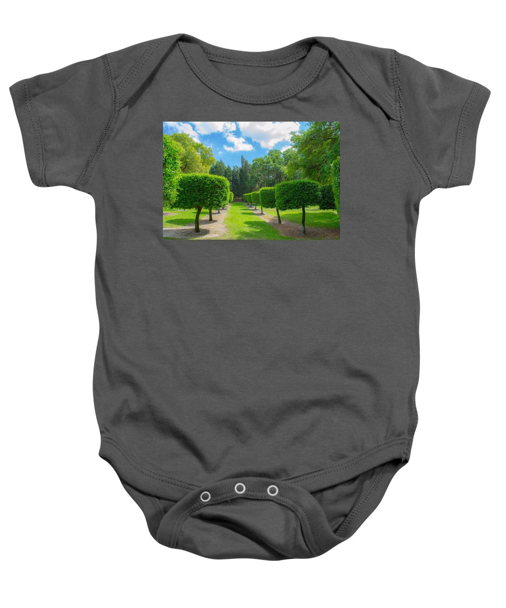 Bok Tower Baby Onesie featuring the photograph Wonderland 1 by Shannon Harrington