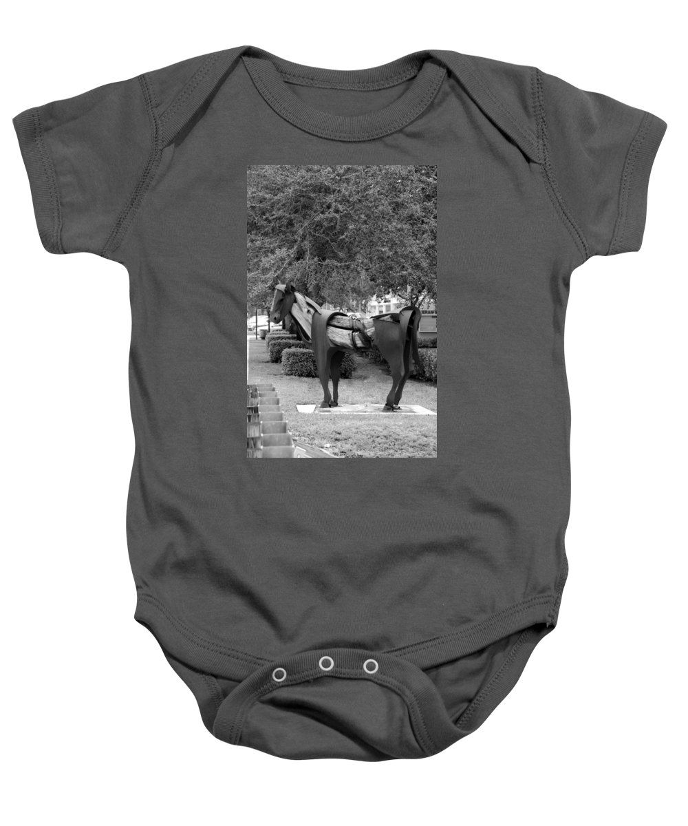 Horse Baby Onesie featuring the photograph Wooden Horse6 by Rob Hans