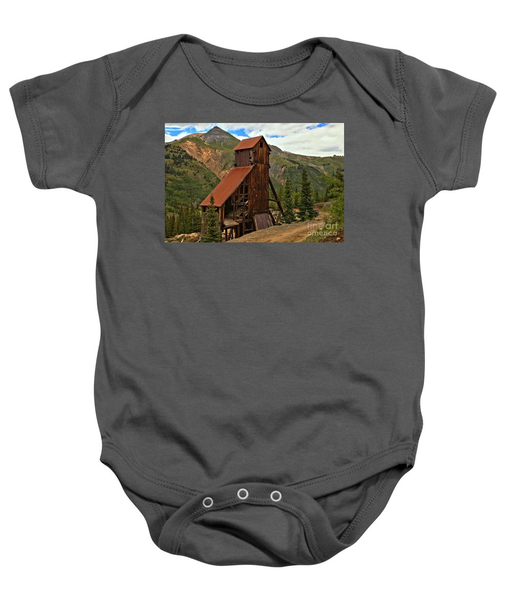 Yankee Girl Mine Baby Onesie featuring the photograph Yankee Girl Landscape by Adam Jewell