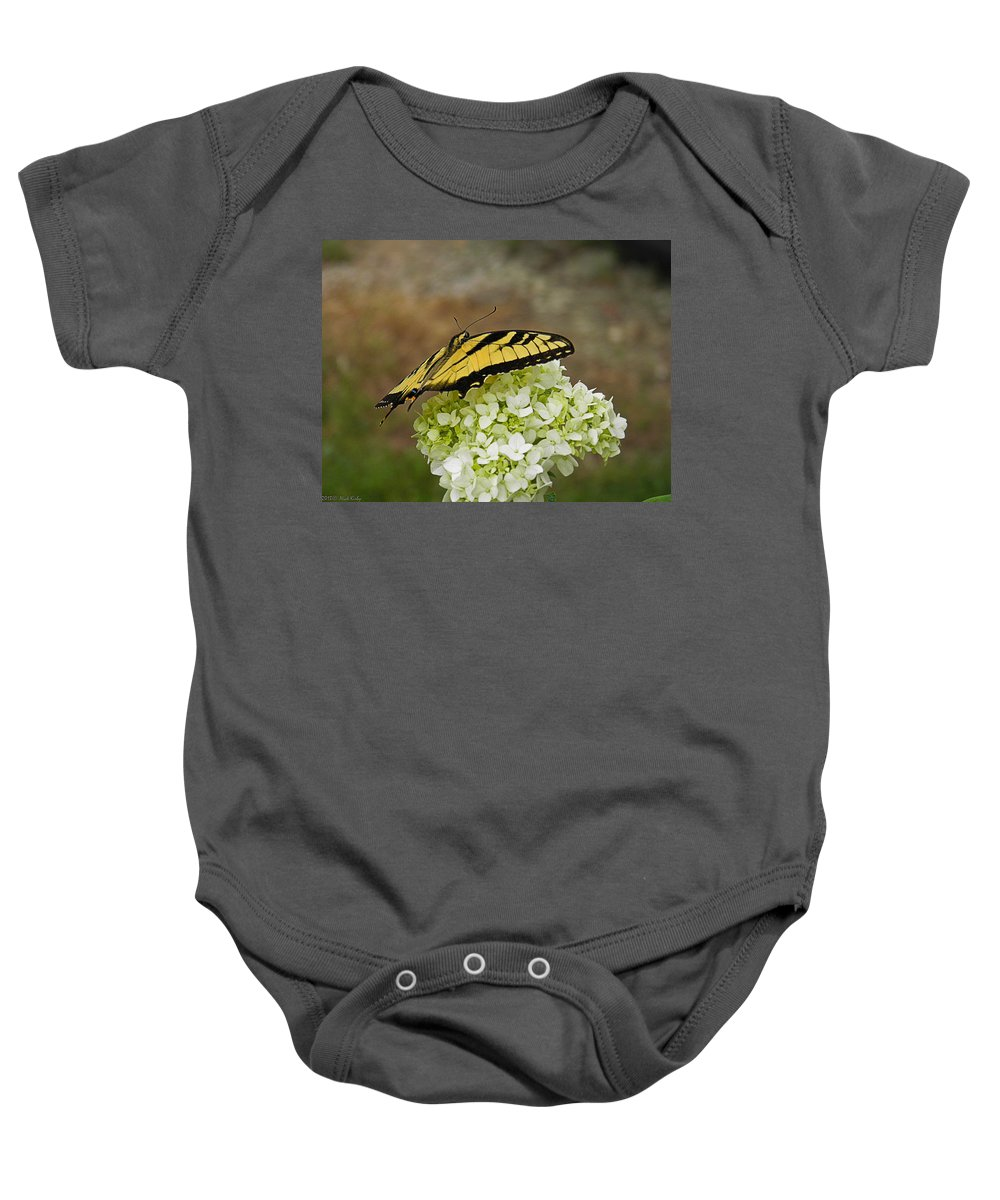 Butterfly Baby Onesie featuring the photograph Yellow Butterfly 2 by Nick Kirby