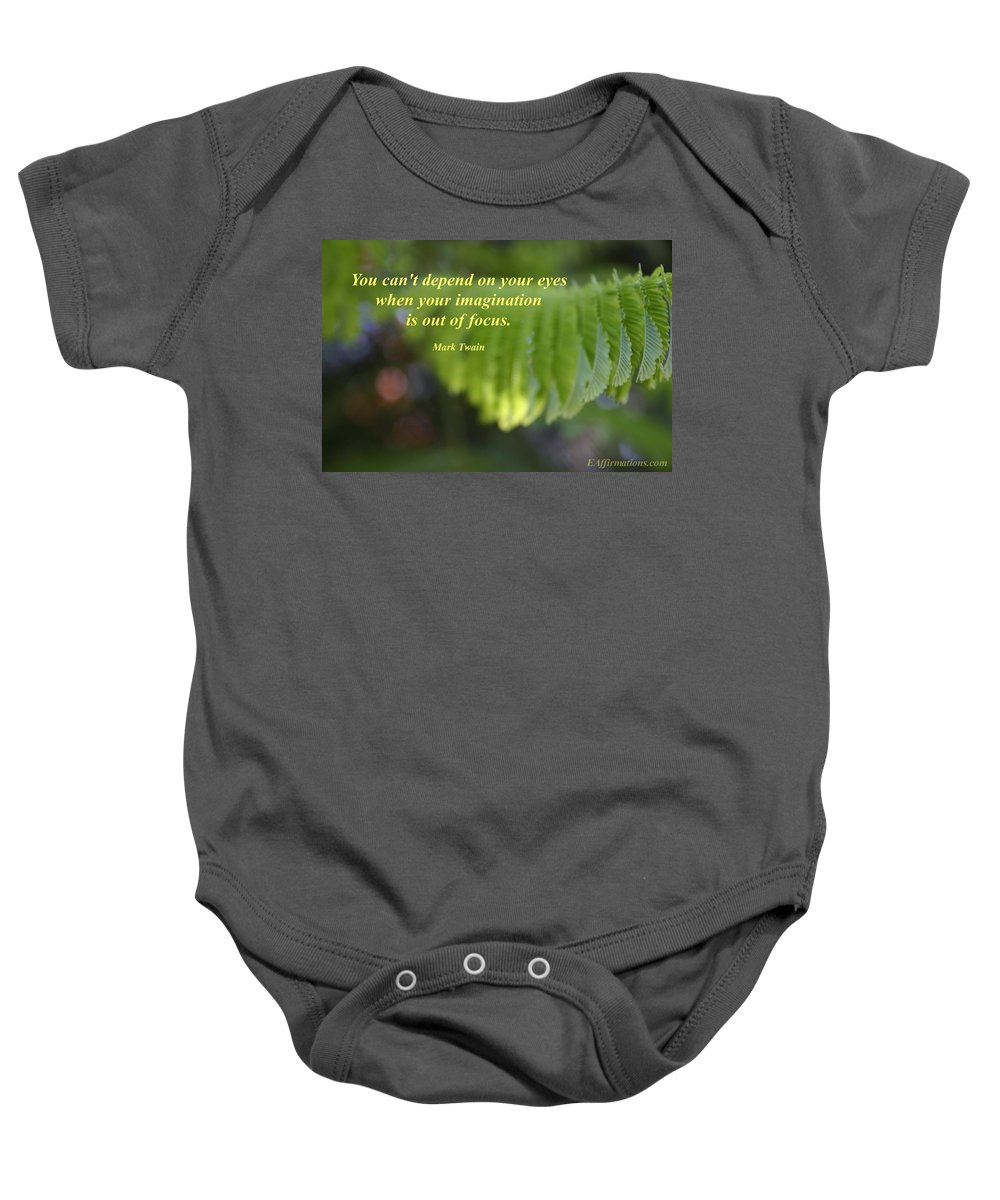 Maui Baby Onesie featuring the photograph You Can't Depend On Your Eyes by Pharaoh Martin