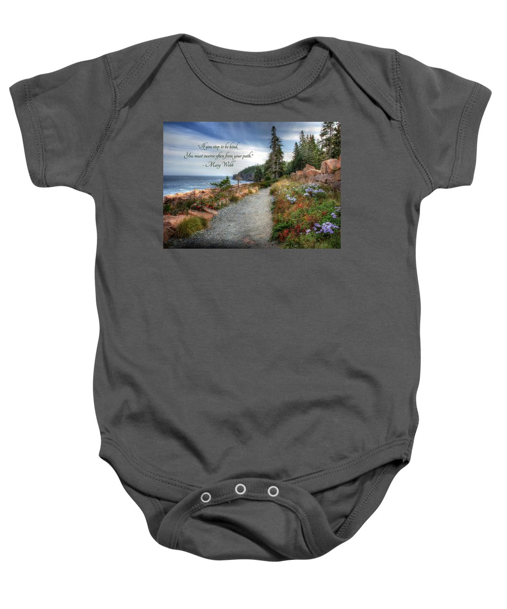 Trail Baby Onesie featuring the photograph Your Path by Lori Deiter