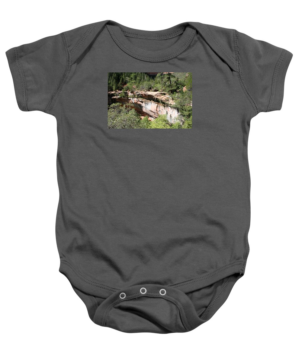 Rim Baby Onesie featuring the photograph Zion Park Rim by Christiane Schulze Art And Photography