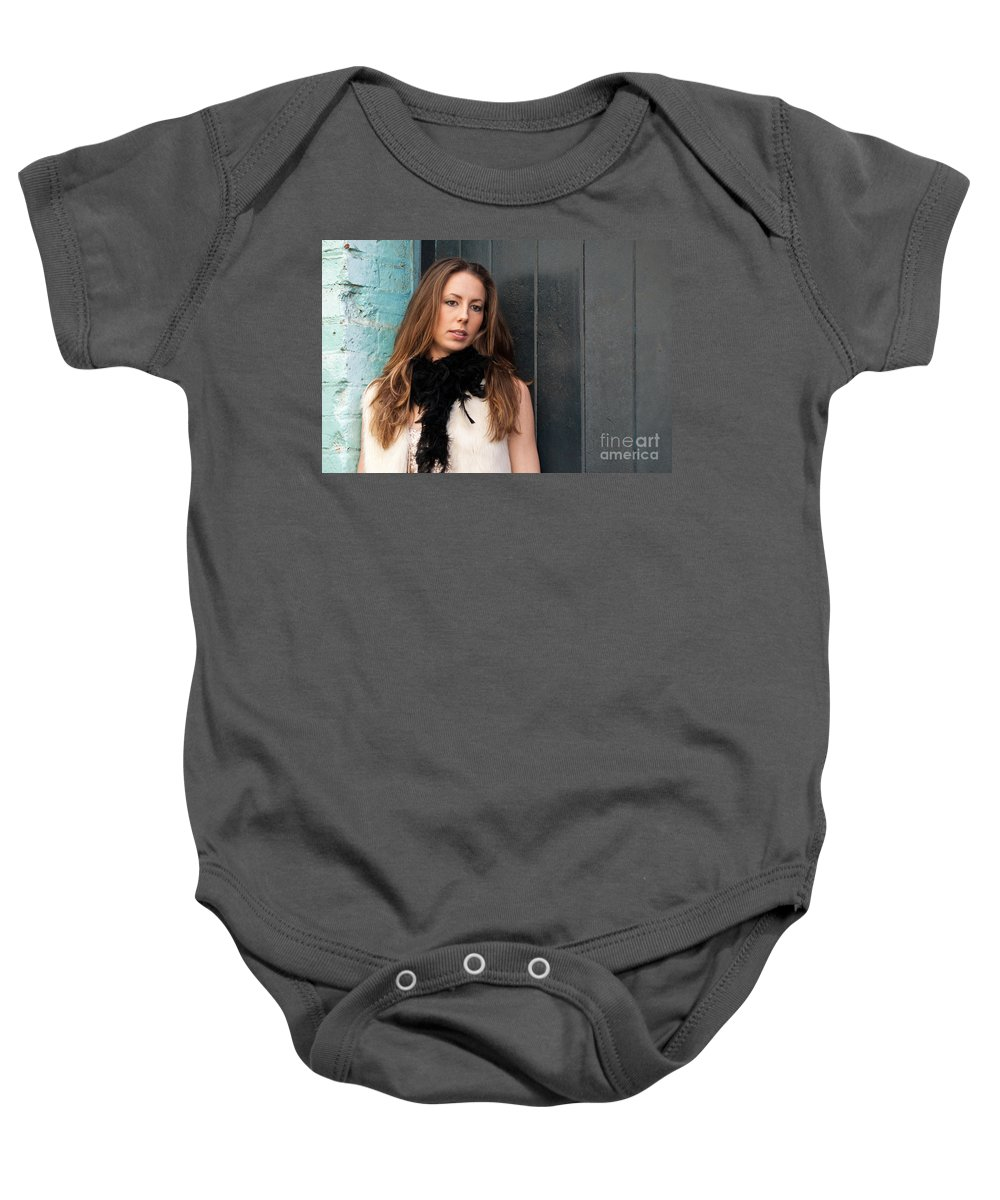 Zoe Baby Onesie featuring the photograph Zoe 12 by Rick Piper Photography
