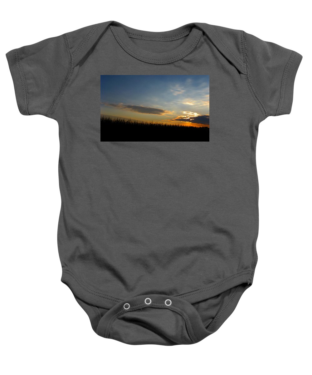 Cornfield Baby Onesie featuring the photograph Cornrise by Dan McCafferty