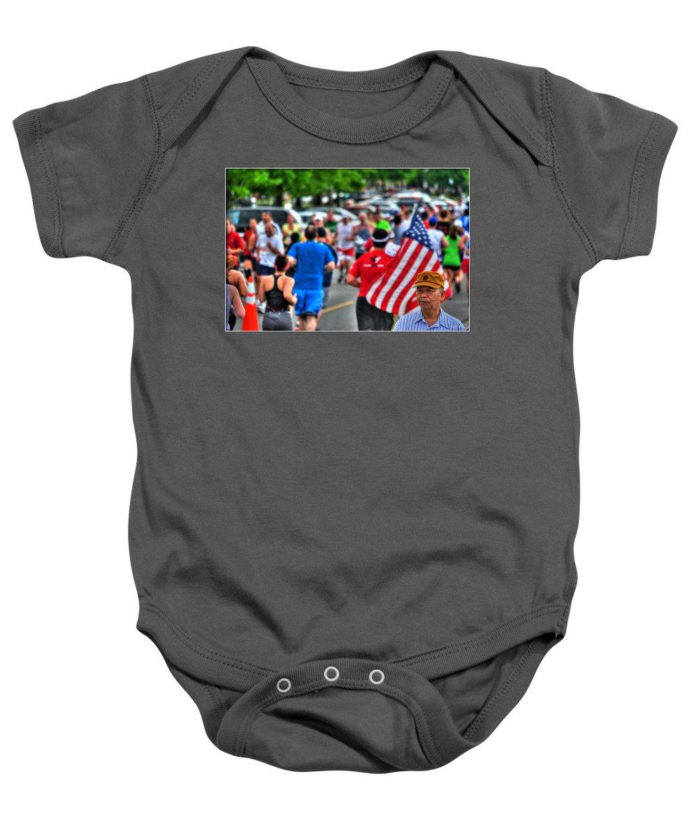 Baby Onesie featuring the photograph 0001 Buffalo Marathon Series 2012 by Michael Frank Jr