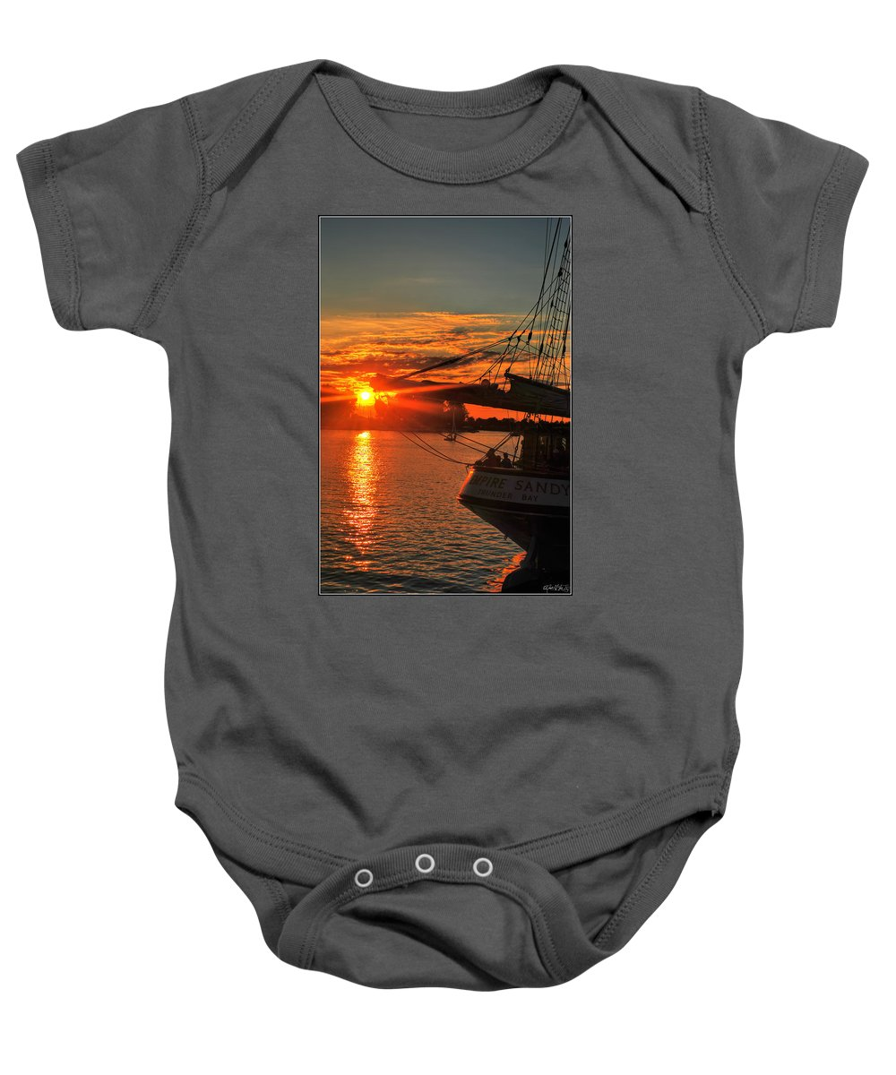 Baby Onesie featuring the photograph 003 Empire Sandy Series by Michael Frank Jr