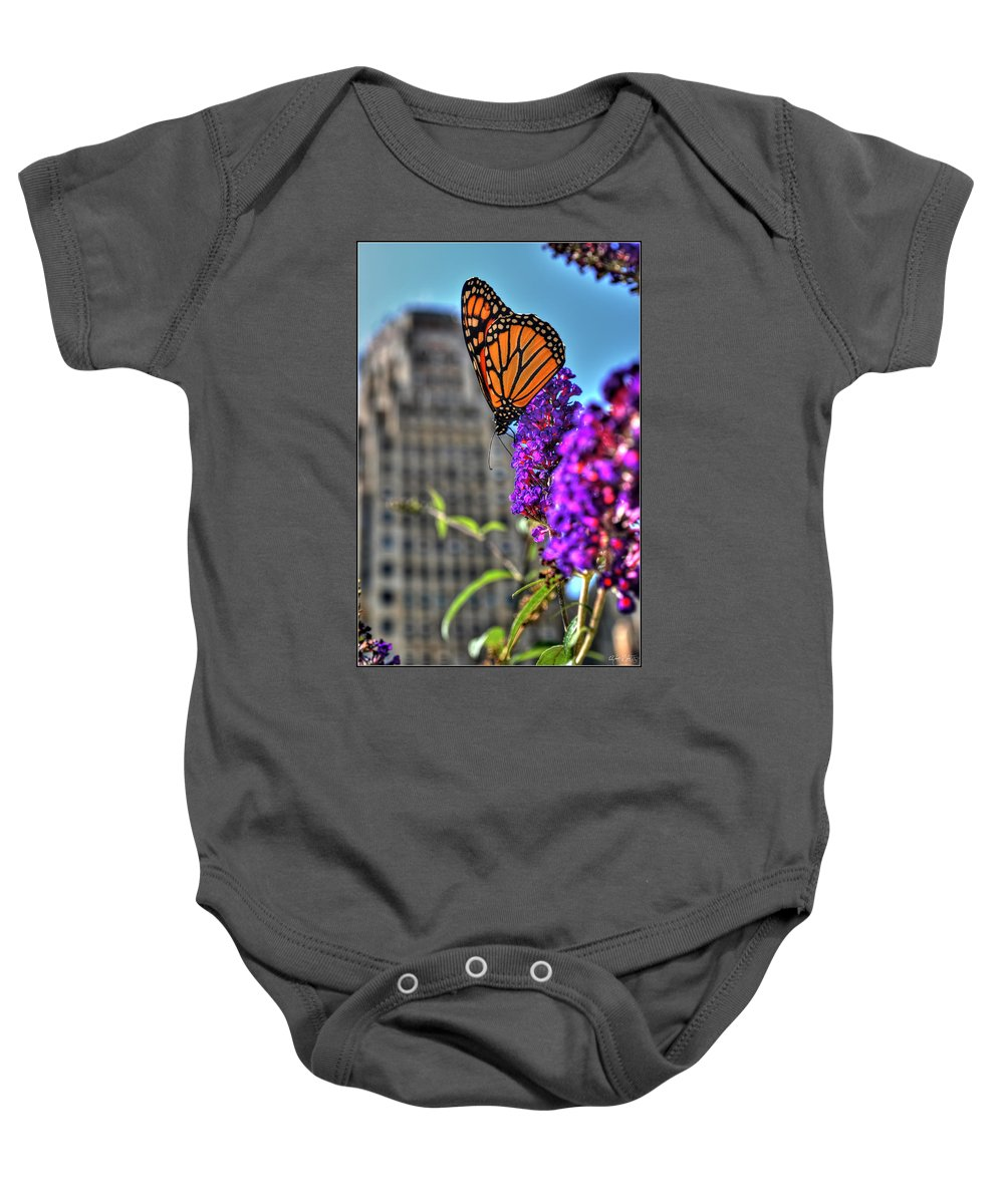 Baby Onesie featuring the photograph 008 Making Things New Via The Butterfly Series by Michael Frank Jr