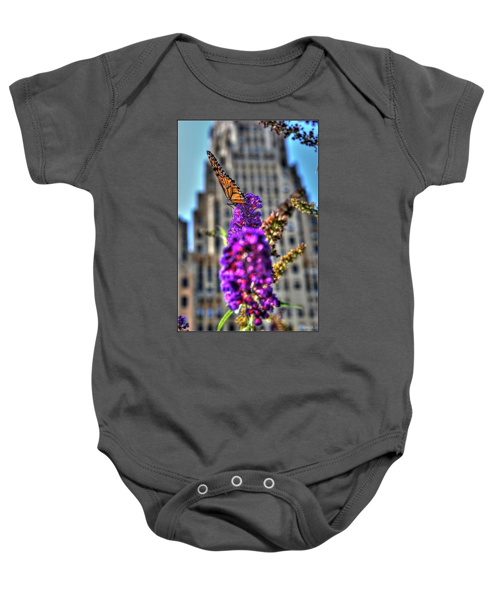 Baby Onesie featuring the photograph 009 Making Things New Via The Butterfly Series by Michael Frank Jr