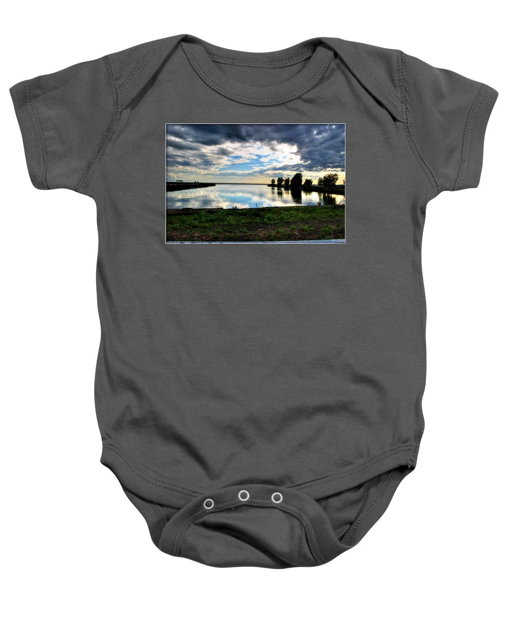 Baby Onesie featuring the photograph 07 Reflecting by Michael Frank Jr