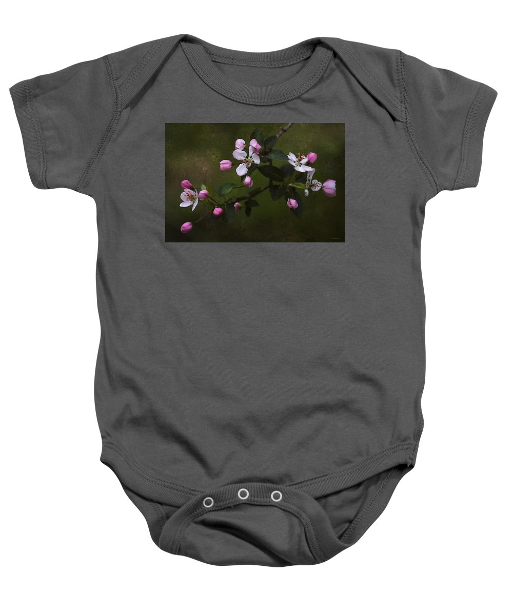 Floral Baby Onesie featuring the photograph Apple Blossom Time by Ron Jones