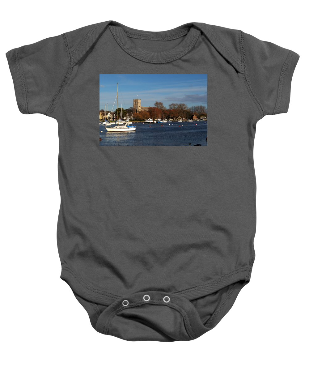 Christchurch Baby Onesie featuring the photograph Christchurch by Chris Day