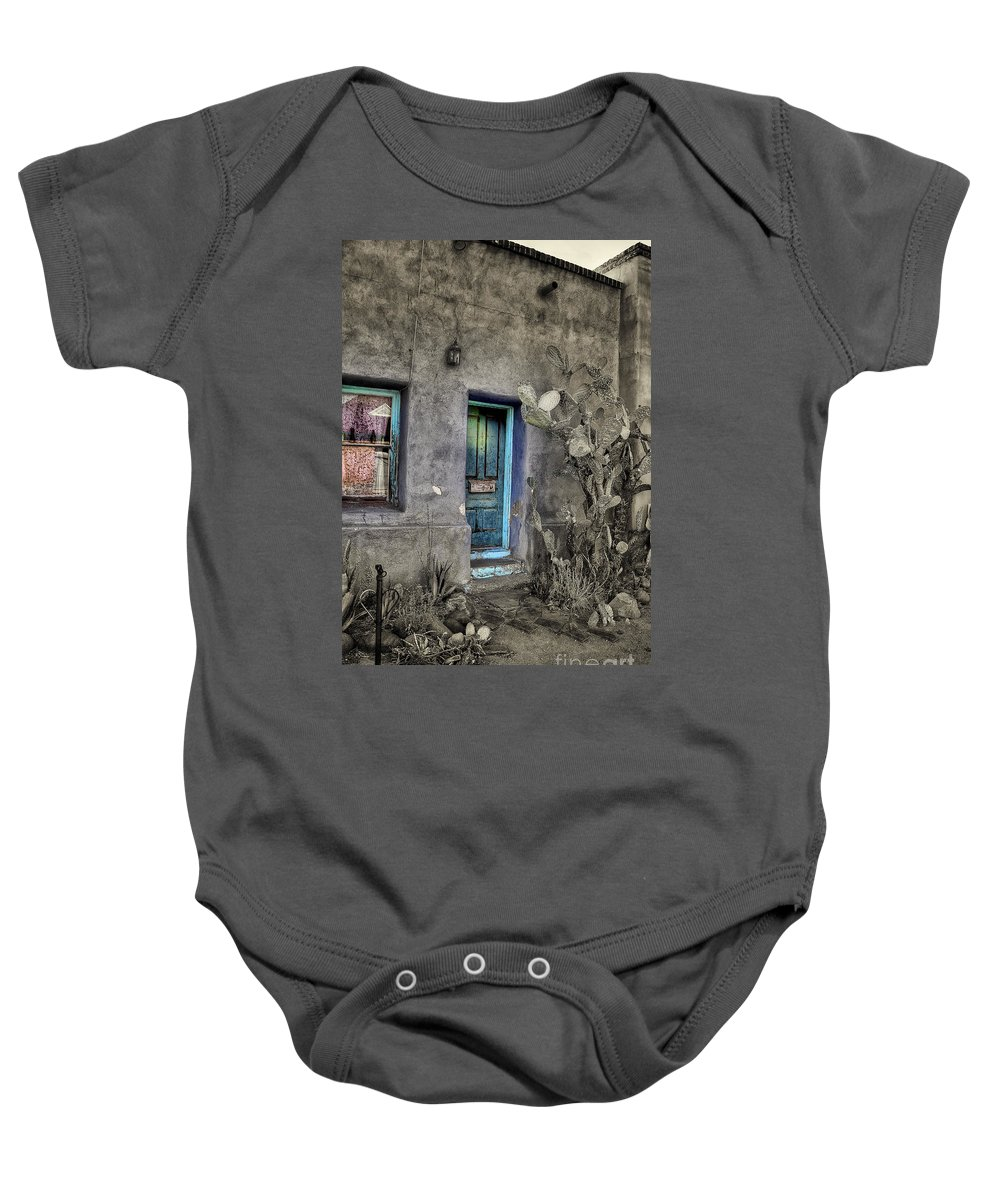 Baby Onesie featuring the photograph Doorway by Larry White