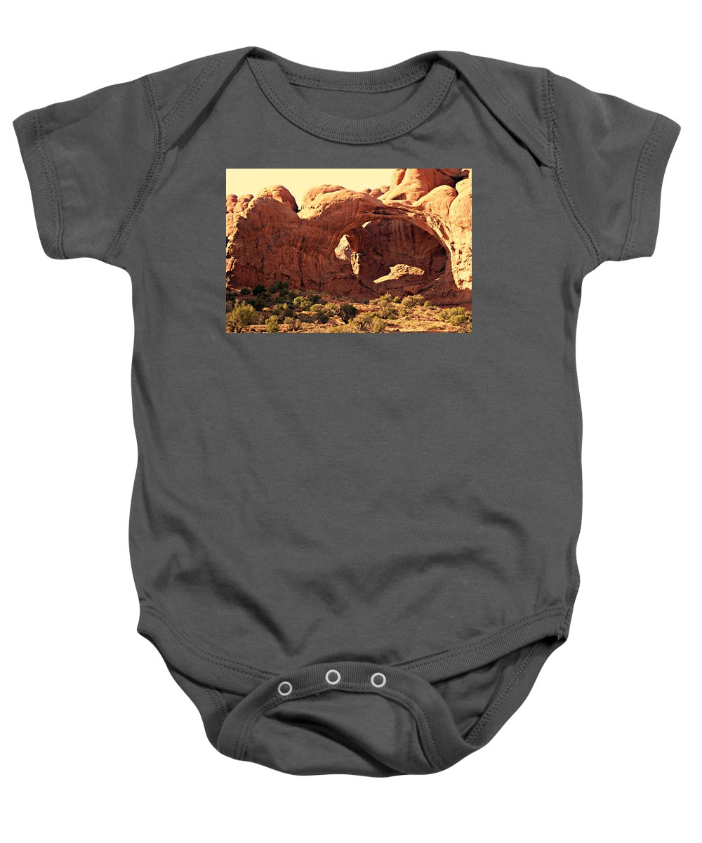 Arches National Park Baby Onesie featuring the photograph Double Arch by Marty Koch