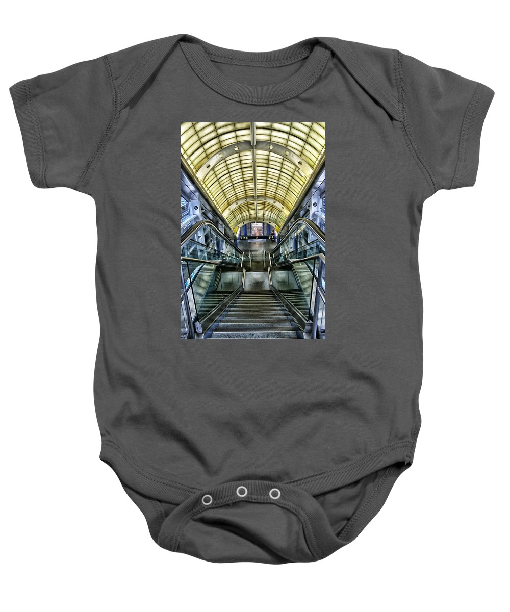 Stairs Baby Onesie featuring the photograph Exit by Lauri Novak