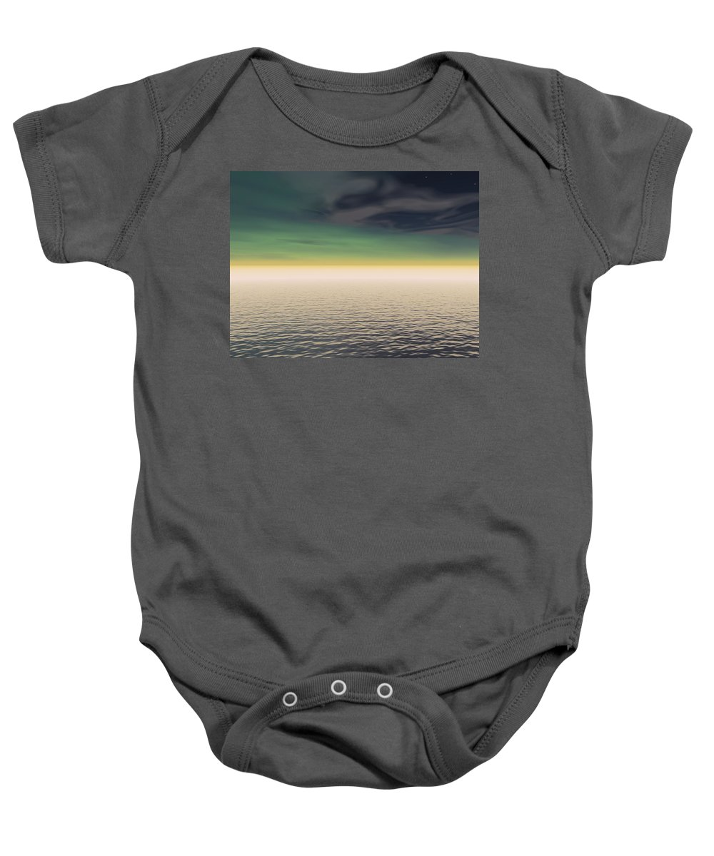 Horizon Baby Onesie featuring the photograph Expanse Of Water And Sky by Paul Sale Vern Hoffman