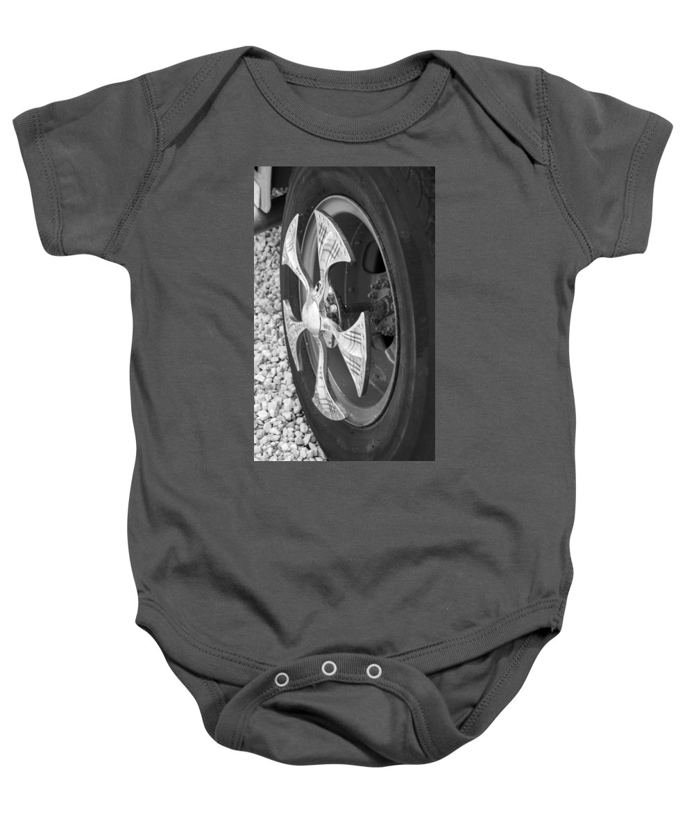 Tires Baby Onesie featuring the photograph Fire Truck Spinner by Rob Hans