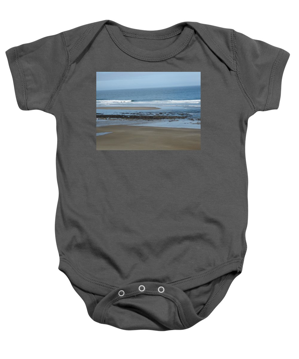 Coast Baby Onesie featuring the photograph Oregon Coast by Linda Hutchins