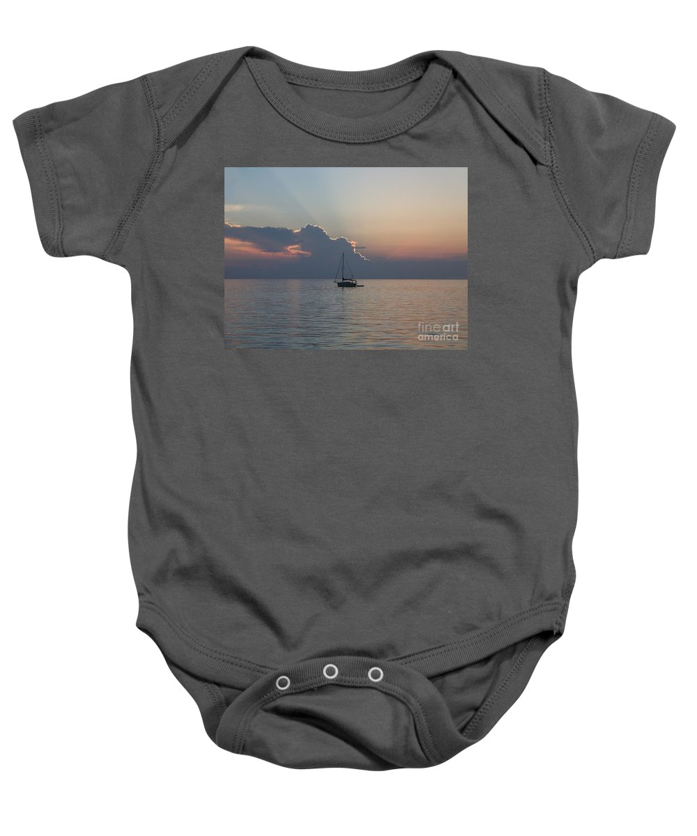 Romantic Baby Onesie featuring the photograph Perfect Ending by Greg Hammond