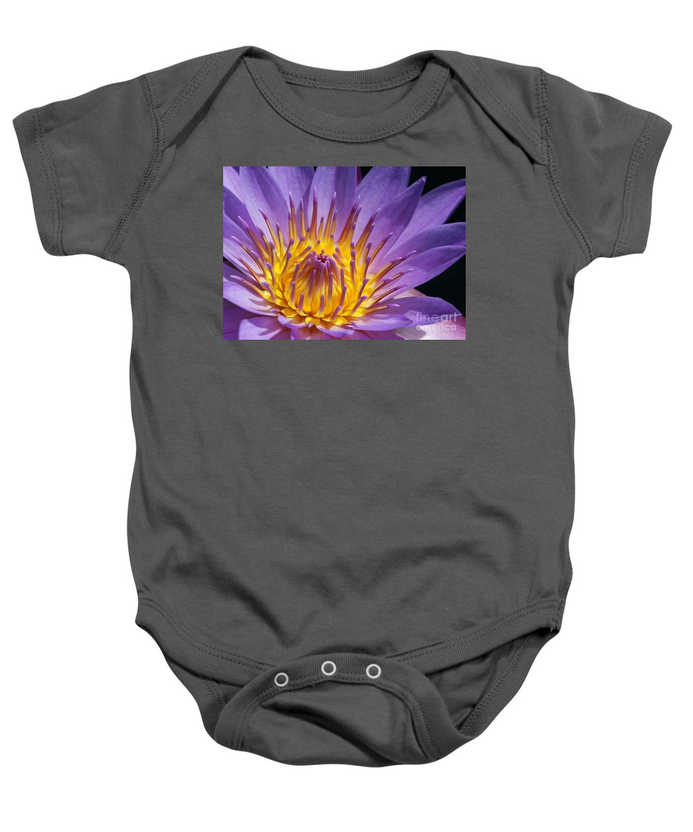 Water Lily Baby Onesie featuring the photograph Reaching For The Sun by Sabrina L Ryan