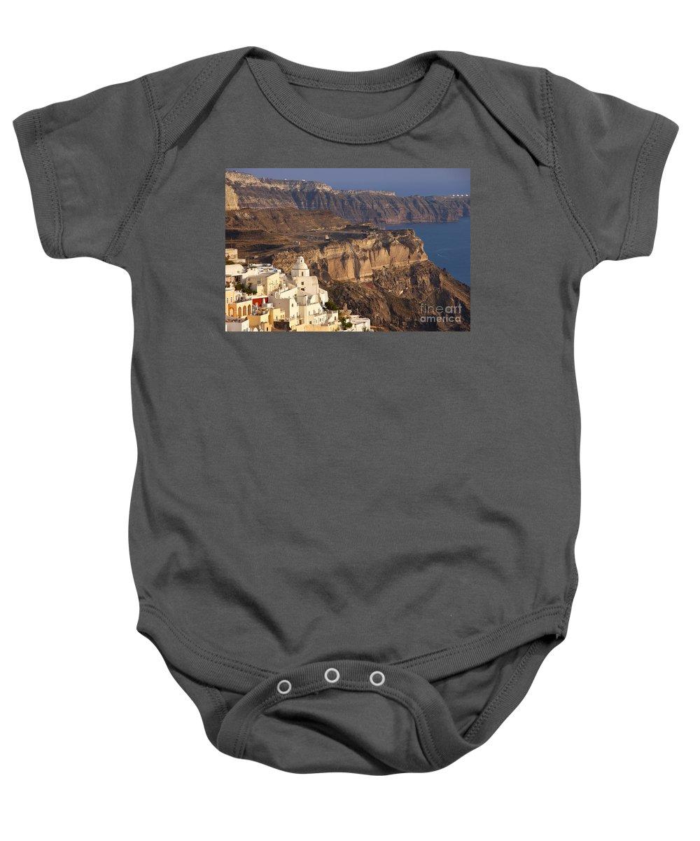 Santorini Baby Onesie featuring the photograph Santorini by Brian Jannsen