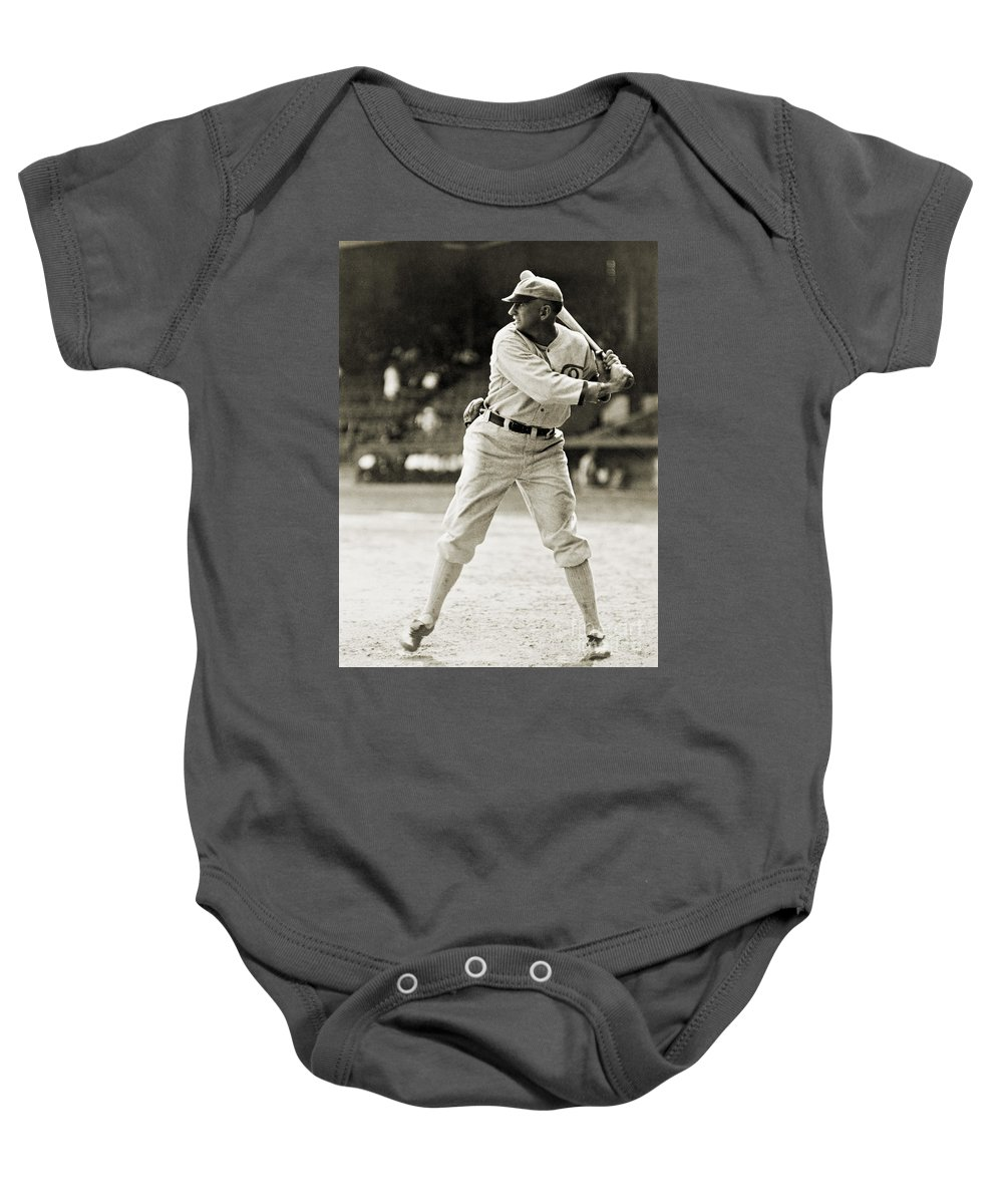 1920 Baby Onesie featuring the photograph Shoeless Joe Jackson (1889-1991) by Granger