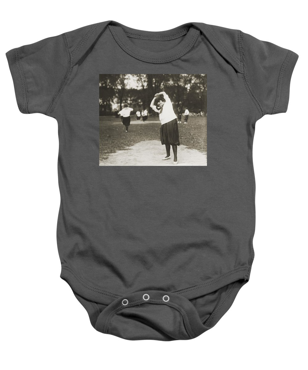 1930 Baby Onesie featuring the photograph Softball Game by Granger