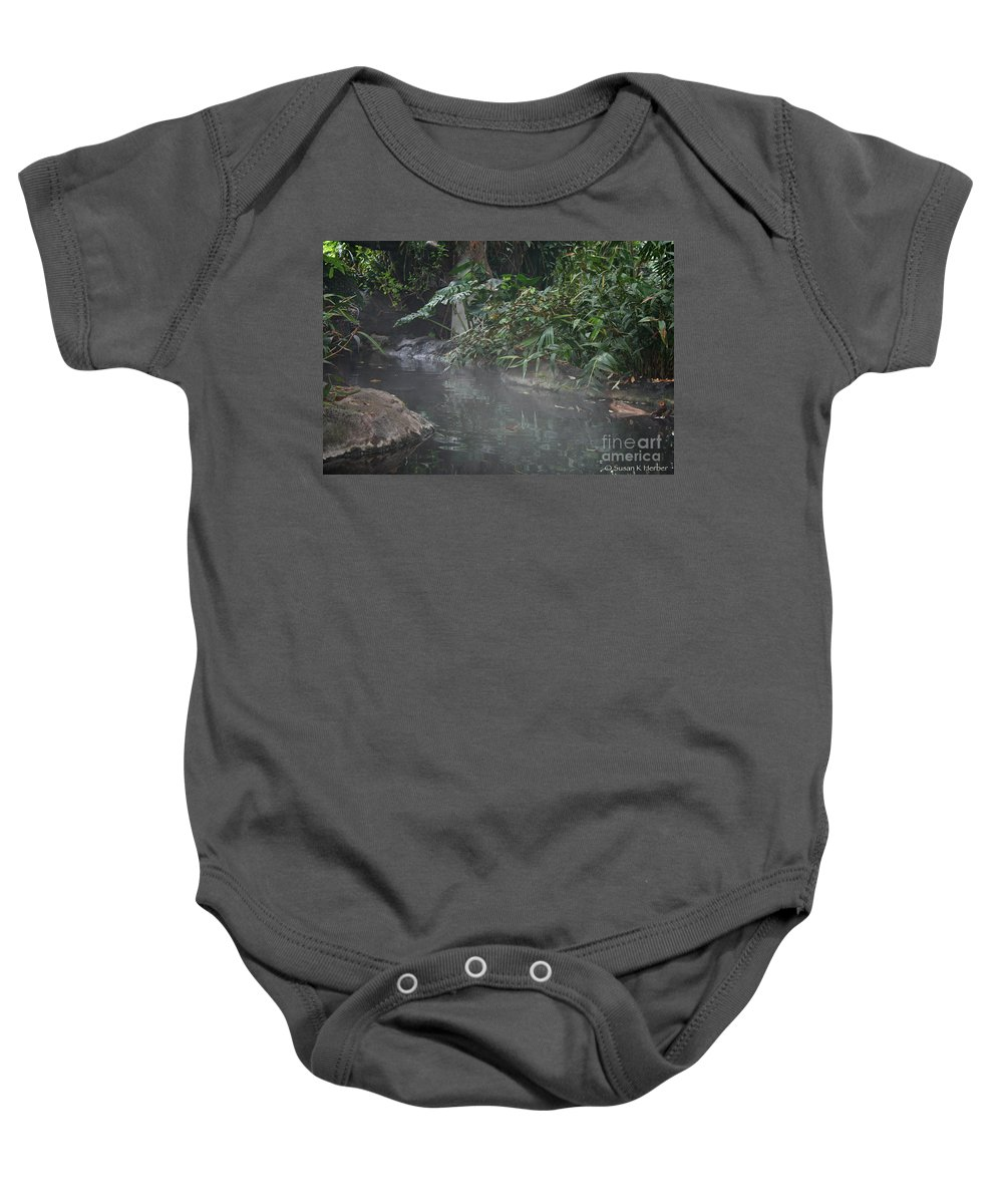 Tropical Plant Baby Onesie featuring the photograph Steamy by Susan Herber