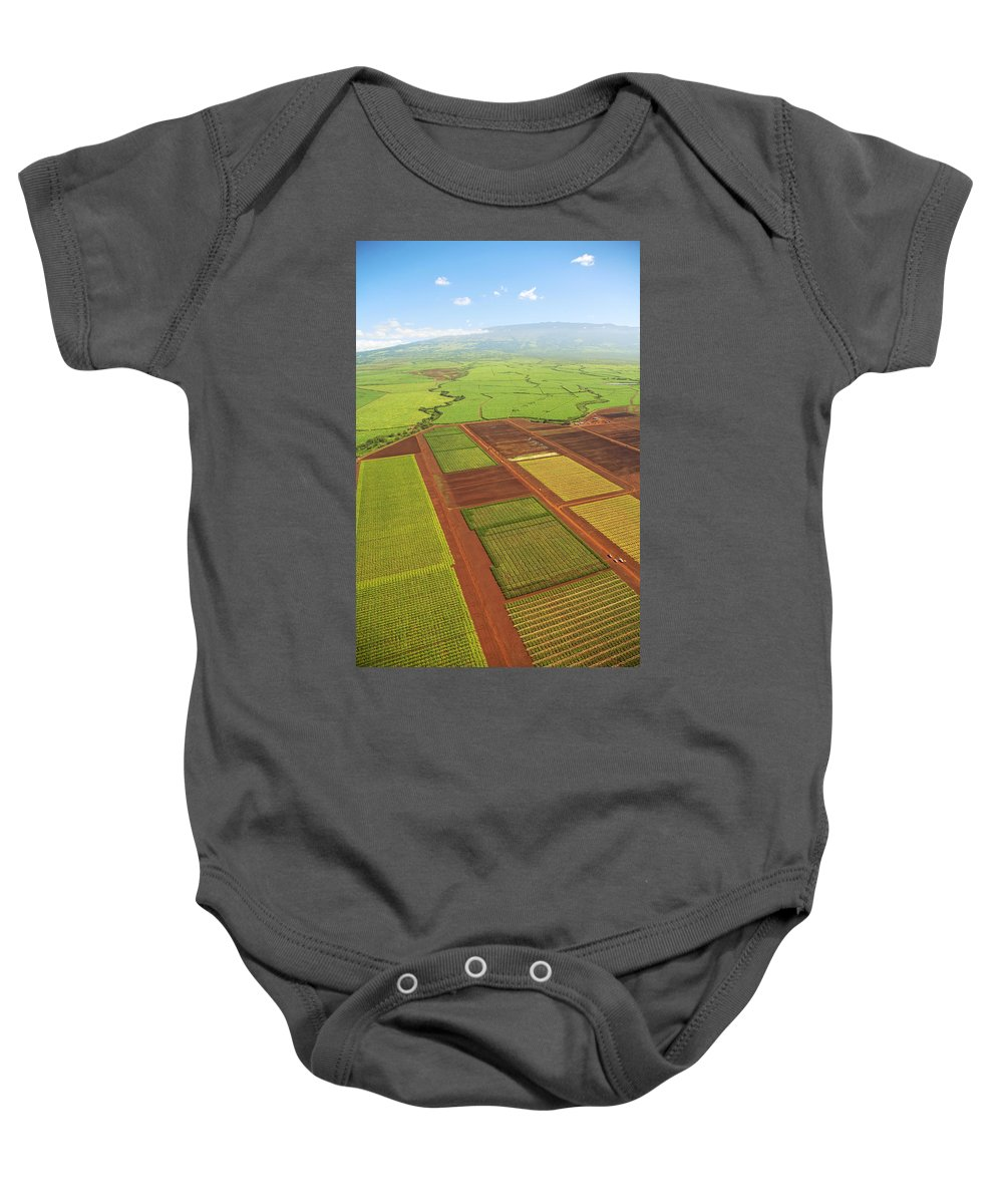 Above Baby Onesie featuring the photograph Sugar Cane Fields by Ron Dahlquist - Printscapes