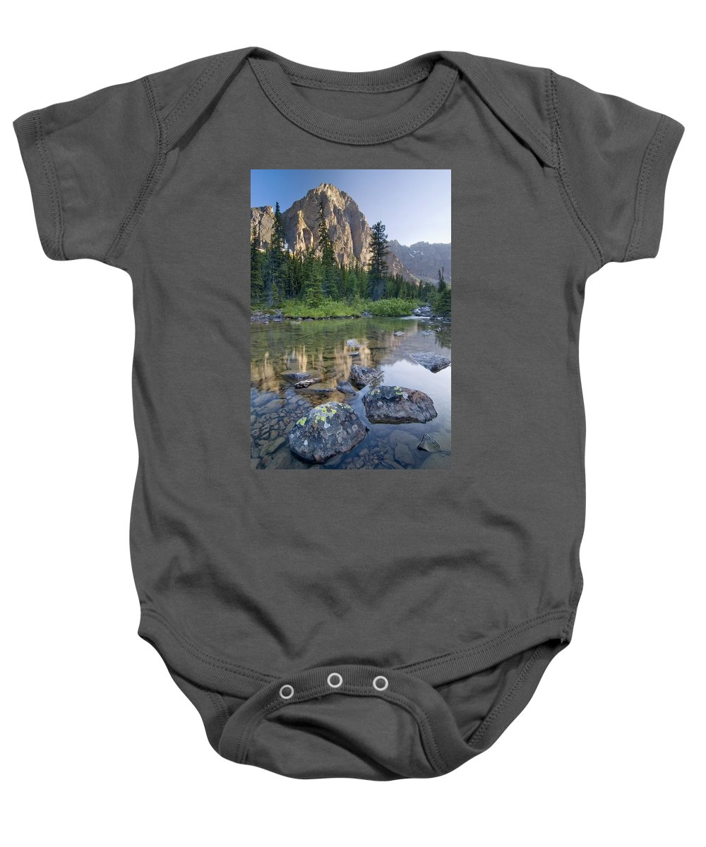 Banff Baby Onesie featuring the photograph Taylor Lake, Banff National Park by Philippe Widling