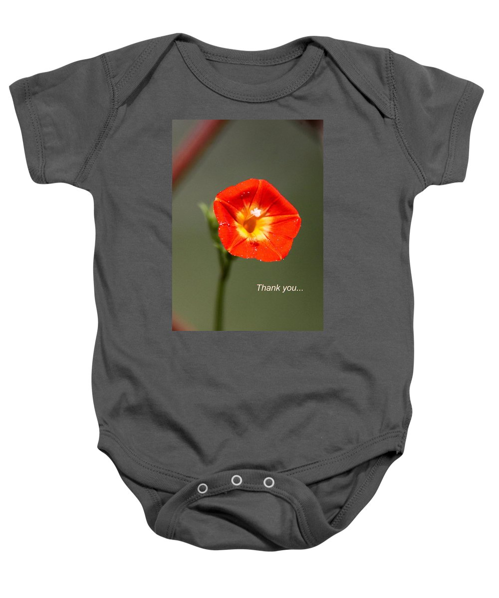 Thank You Baby Onesie featuring the photograph Thank You - Card by Travis Truelove