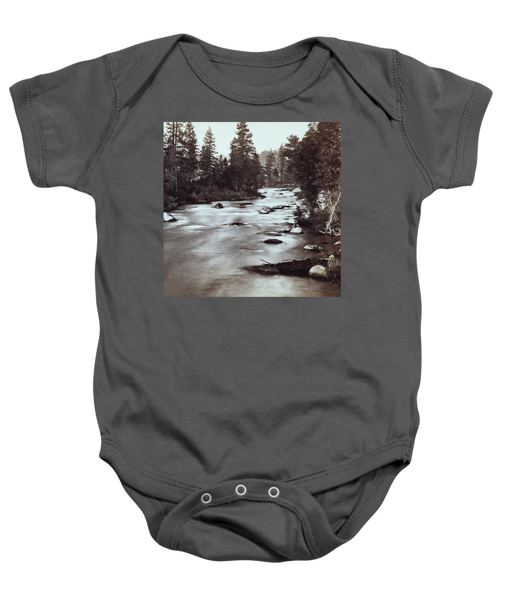 Truckee Baby Onesie featuring the photograph Truckee River - California - C 1865 by International Images