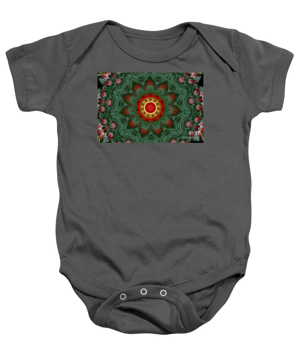 Kaleidoscope Baby Onesie featuring the photograph Tulips 1 by Mark Gilman